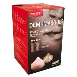 Demi-masque classique avec valve. FFP3 NR D.