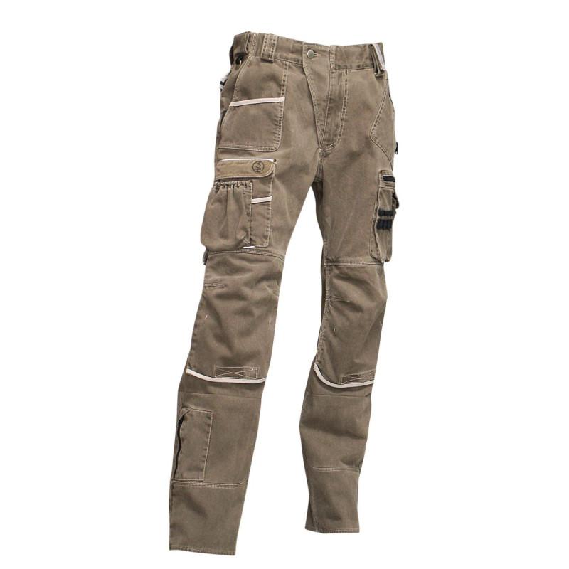 Pantalon multipoches avec poches genouillères ARDOISE
