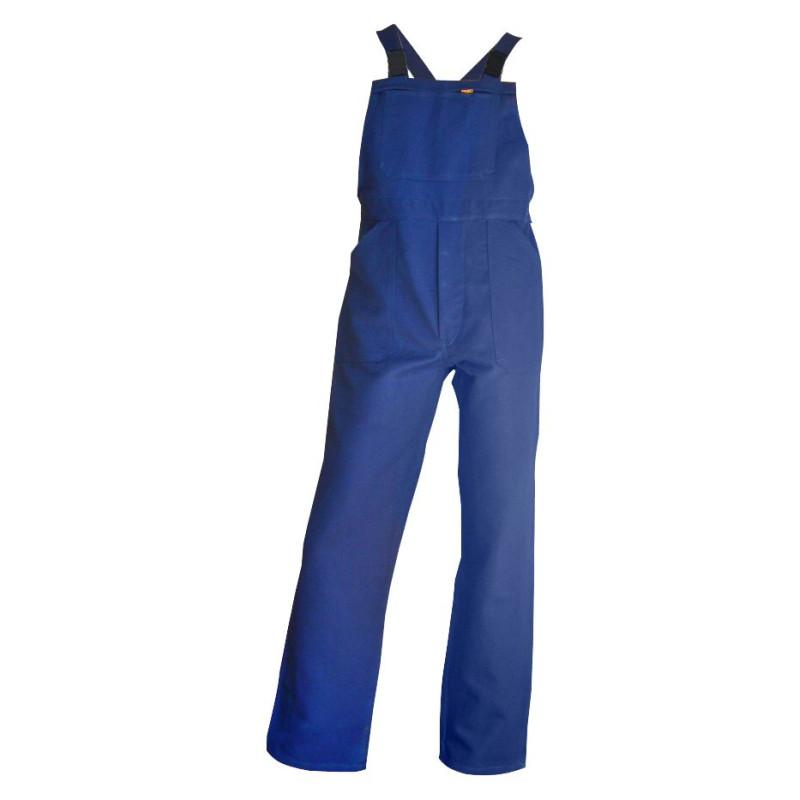 Cotte à Bretelles Bleue 100% Coton LMA BASTAING