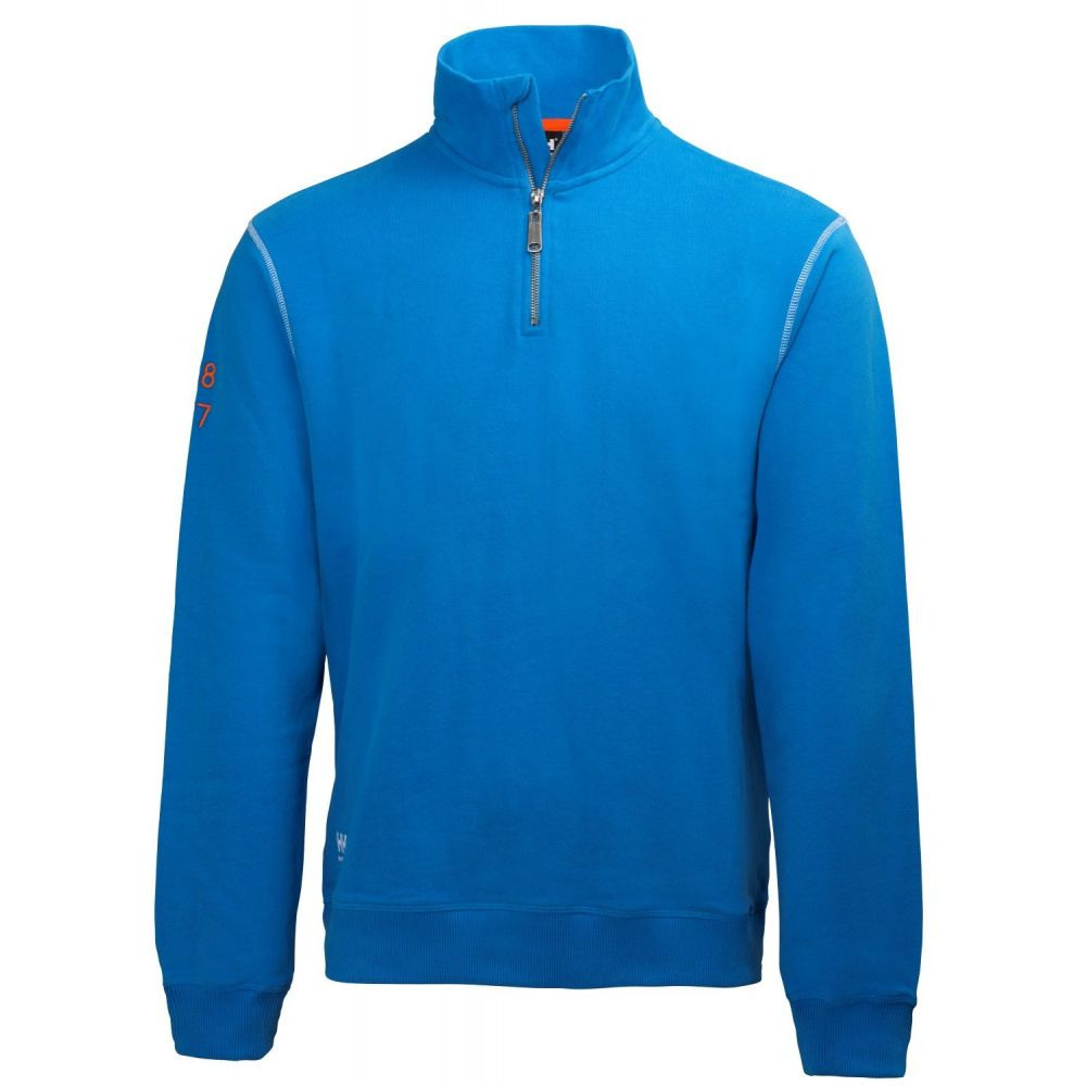 Sweat Coton Oxford Zippé Helly 100 Hansen Professionnel Workwear rwzFr