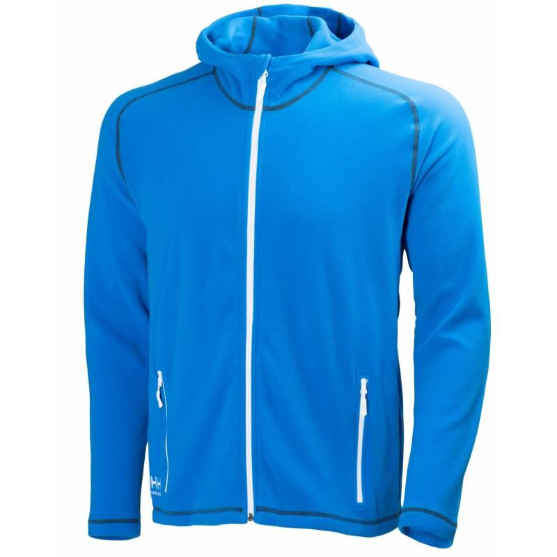 Polaire professionnelle micro-polaire à capuche bleu Helly Hansen Workwear CHELSEA - vue devant
