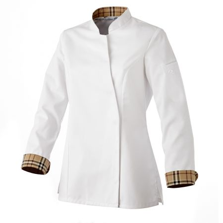 Veste de cuisine pour femme robur int rieur fa on burberry for Veste de cuisine robur