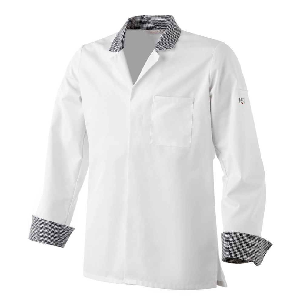 Veste boucher uno vetementpro com for Veste de cuisine robur