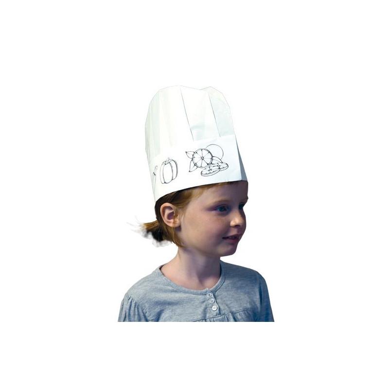 Toques de cuisine papier enfant (lot de 10)