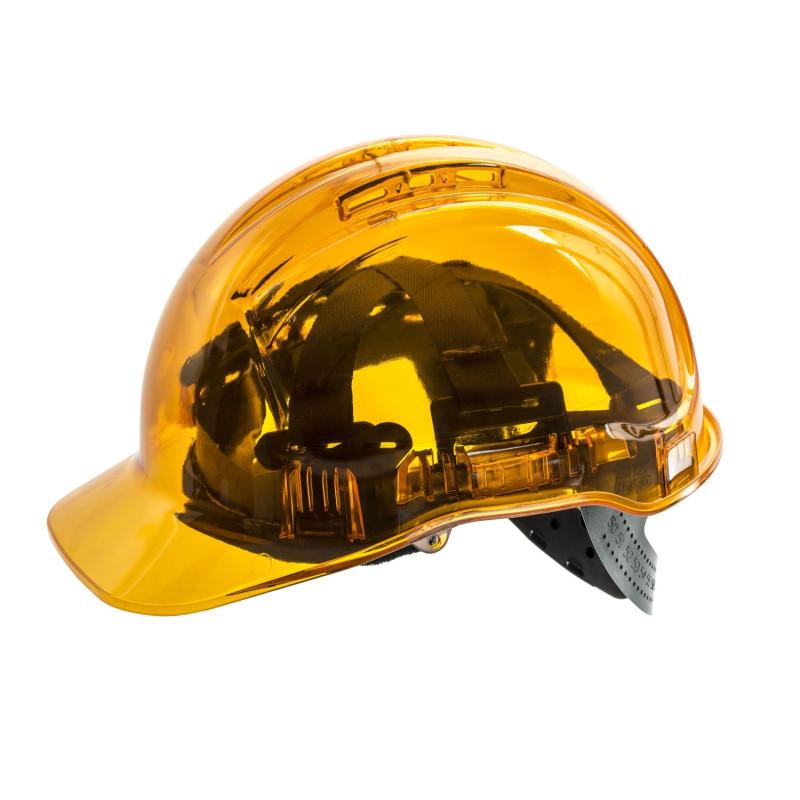 Casque de chantier jaune translucide PEAKVIEW