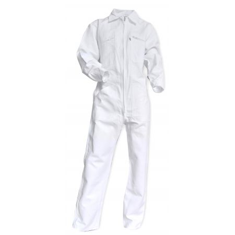 Combinaison professionnelle LMA 100% coton pas cher et fonctionnelle blanc pour peintre