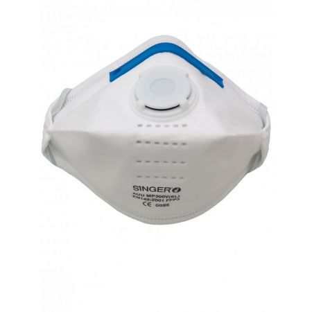 Demi masque respiratoire pliables jetables FFP3 NR D Singer Safety 364f463aabef