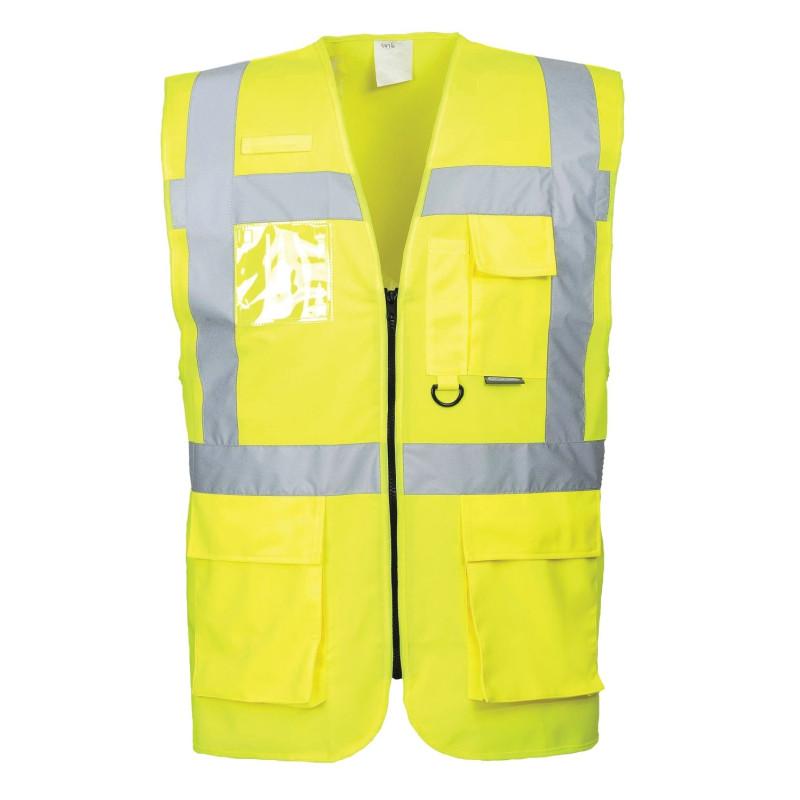 Gilet Haute Visibilité multi-poches jaune