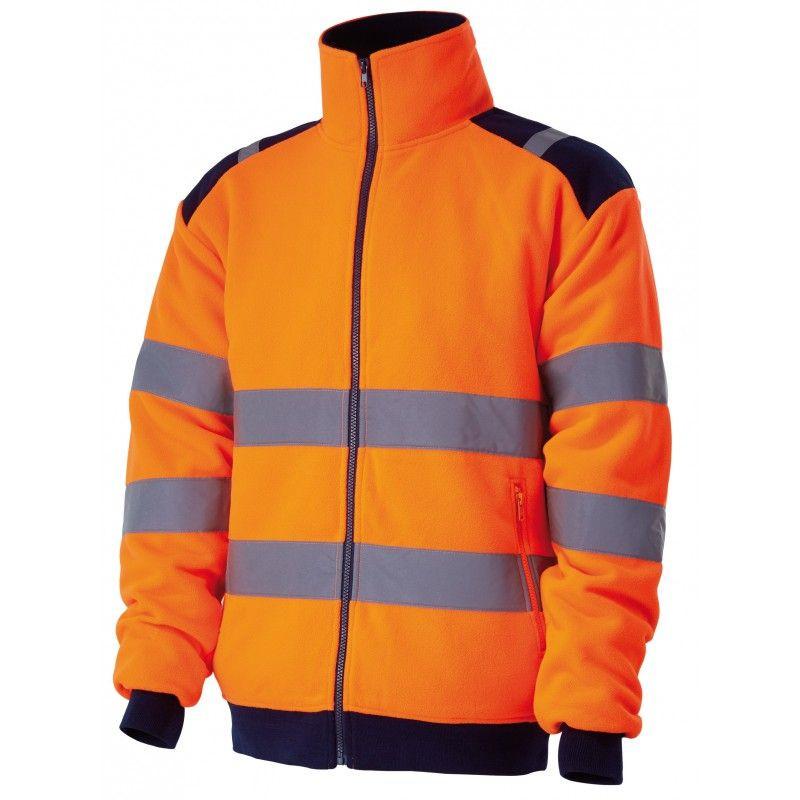 polaire haute-visibilité orange POLGA