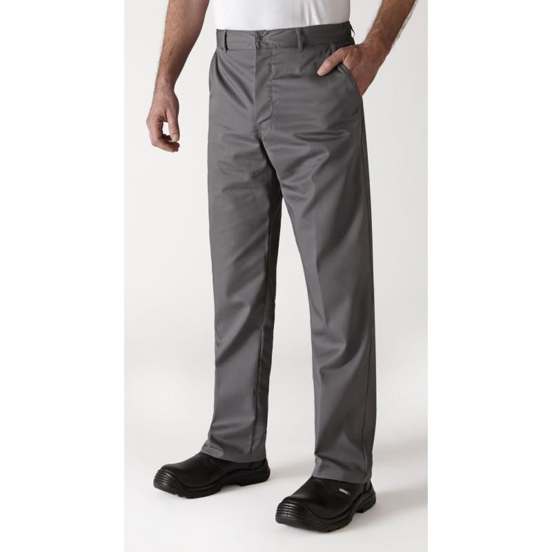 Pantalon de cuisine gris uni robur TIMEO