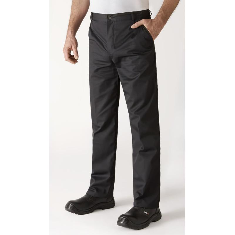 Pantalon de cuisine  noir robur TIMEO