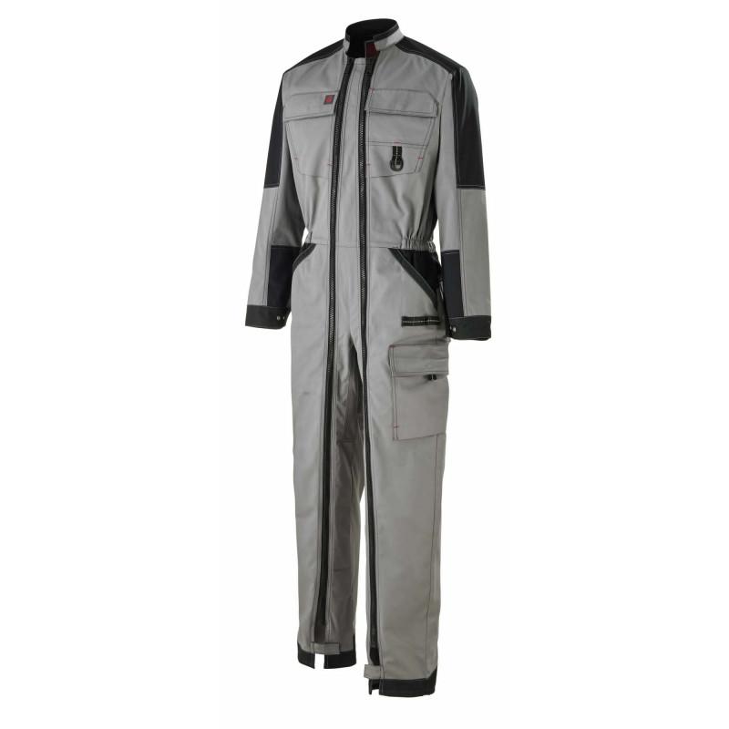 Combinaison professionnelle Lafont gris acier Work Attitude WIRE double zip