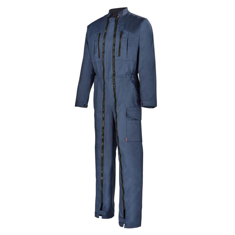 Combinaison sans métal Lafont double zip bleu marine