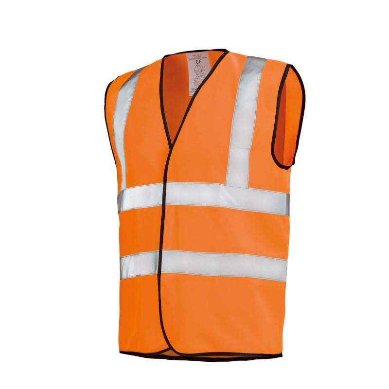 Gilet sans manche Haute Visibilité orange fluo Lafont