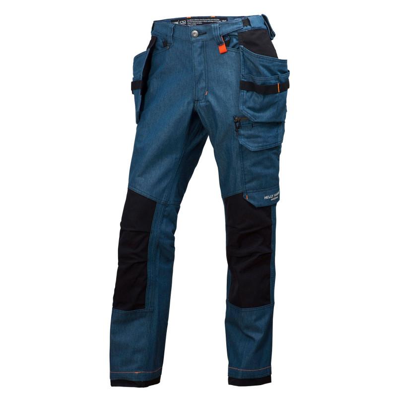 Pantalon de travail Helly Hansen Workwear poches pendantes MJØLNIR Bleu Acier