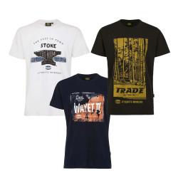 Tee Shirt Professionnel GRAPHIC DENIM Vintage - Blanc - Devant