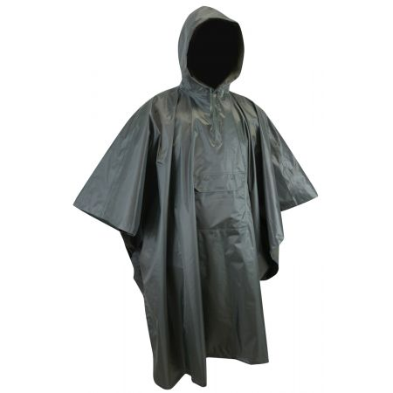 Poncho de pluie imperméable et coupe-vent CLIMAT LMA Vert kaki foncé - Devant
