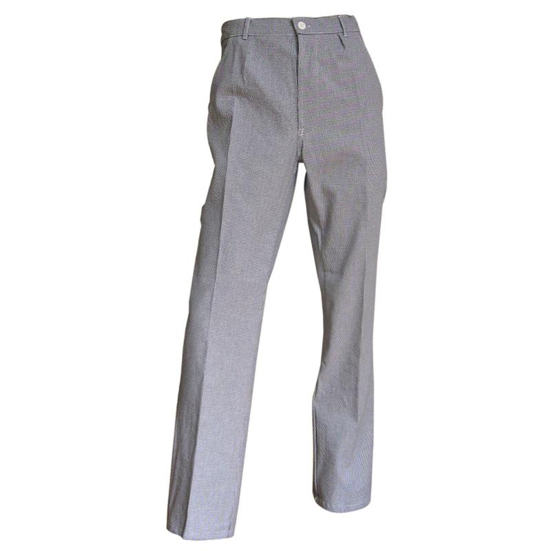 Pantalon de Cuisine motif Pied de poule - Pantalon de cuisinier mixte - LMA MORTEAU