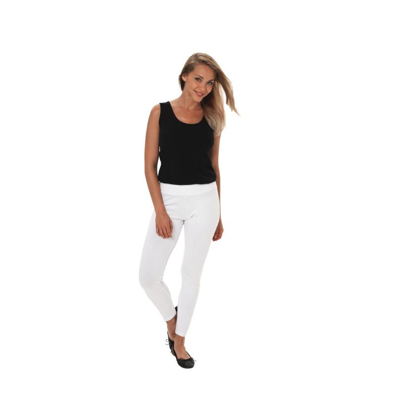 Legging Médical Professionnel Blanc pour Femme MAYOTTE par Lotus Blanc Forme Slim