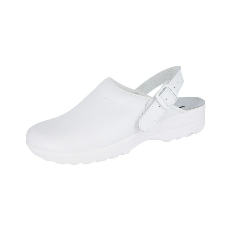Sabot Médical SRC en cuir blanc mixte MADO Nordways couleur blanche