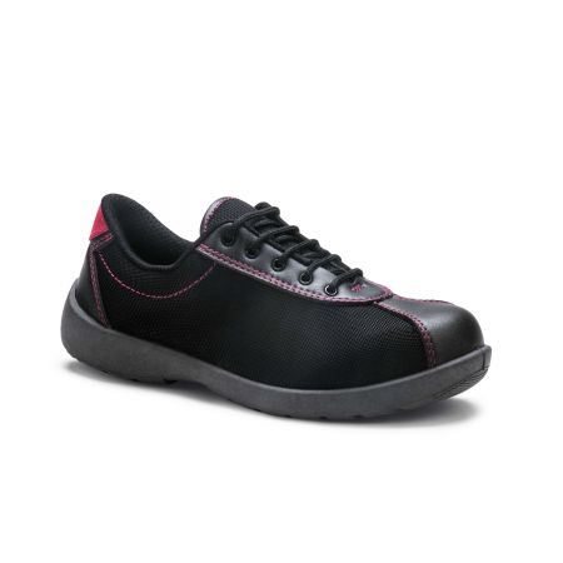 Basket de Sécurité Femme S1P ALICE S.24 Fabriquées en France noir et coutures roses