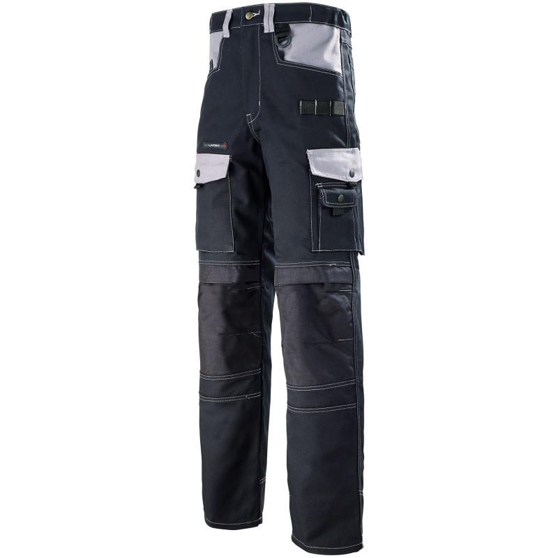 Pantalon de travail BTP Artisan Lafont Work Attitude SPANNER de couleur Noir contrasté Gris