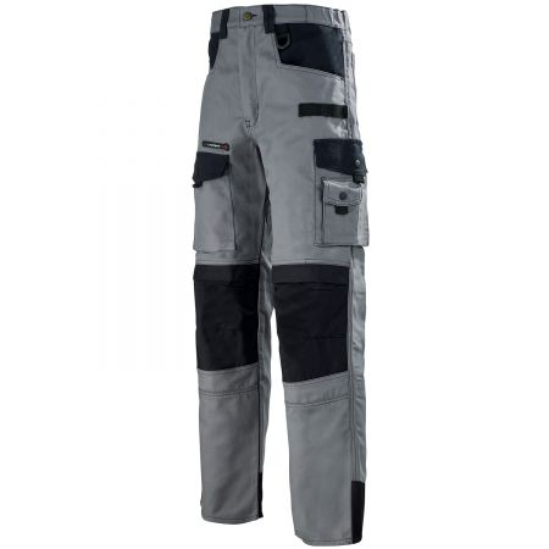 Pantalon professionnel BTP Artisan Lafont Work Attitude SPANNER de couleur gris contrasté noir