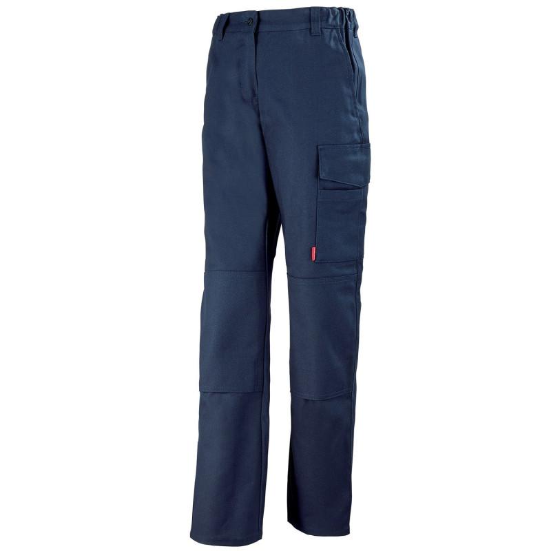 Pantalon de travail Femme sans métal JADE Lafont Work Collection pas cher - bleu marine