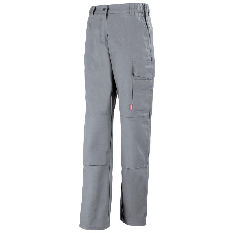 Pantalon professionnel Femme sans métal JADE Lafont Work Collection pas cher - gris acier