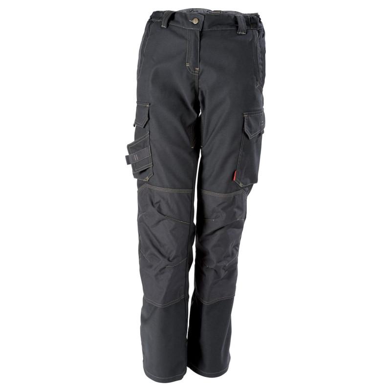 pantalon pro stretch femme Lafont Collection Stone avec poches genoux modèle ITUHA gris charbon