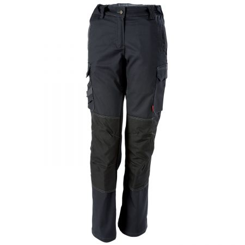 pantalon de travail stretch femme Lafont Collection Stone avec poches genoux modèle ITUHA noir