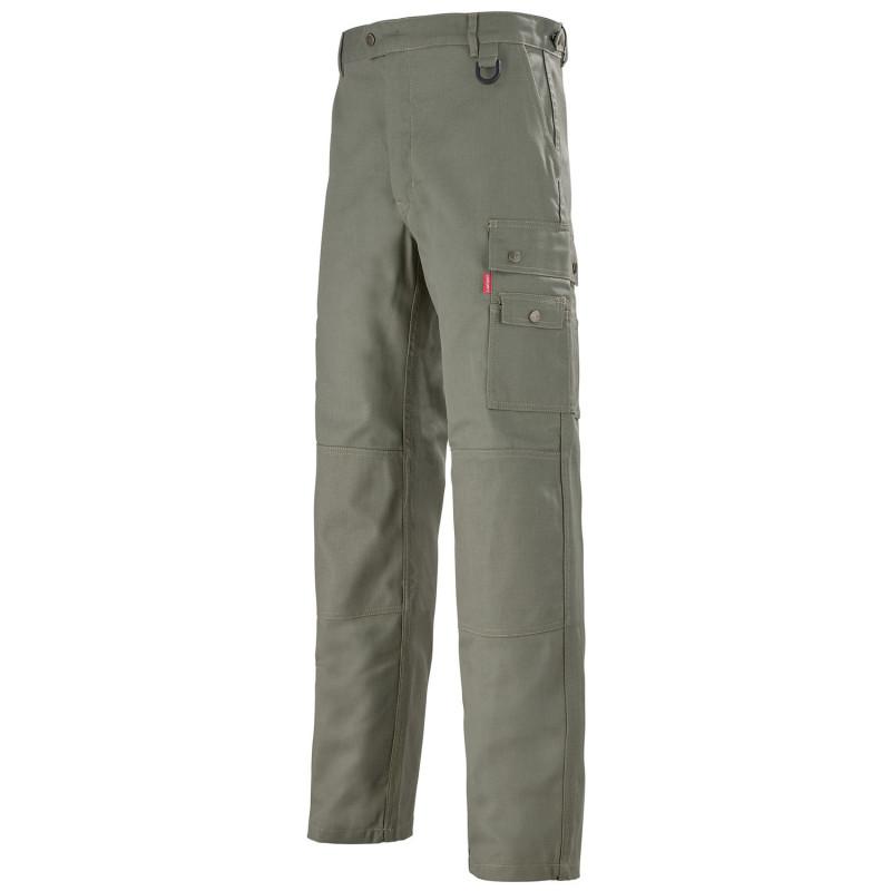 Pantalon de travail Lafont pour technicien WORK COLLECTION modèle OPALE - vert kaki