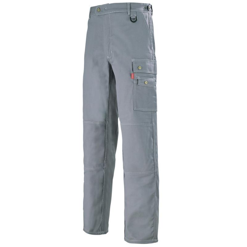 Pantalon professionnel Lafont pour technicien WORK COLLECTION modèle OPALE - gris acier