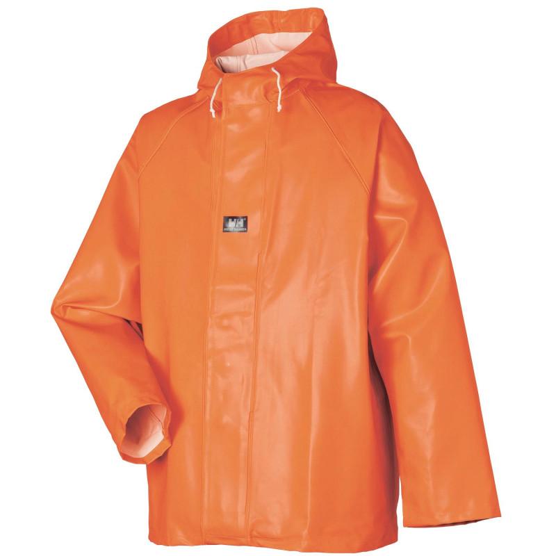 Veste de Pluie Professionnelle Orange Imperméable Helly Hansen Workwear STAVANGER 50% coton, 50% polyester