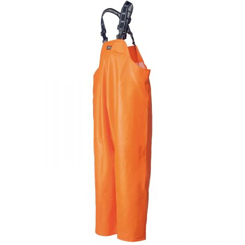 Cotte à Bretelle de Travail Orange Imperméable Helly Hansen Workwear STAVANGER pour pêcheur professionnel