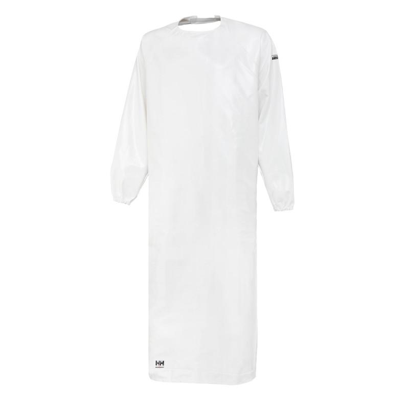 Manteau Professionnel Imperméable Blanc Helly Hansen Workwear adapté pour les poissonniers professionnels BODOE