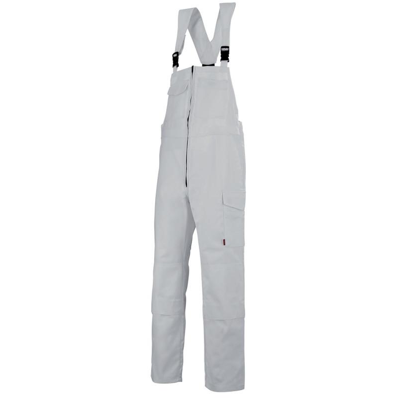 Cotte à bretelles professionnelle Lafont Industrie ZIRCON WORK COLLECTION 6MIMCP avec poches genoux et sans métal blanc
