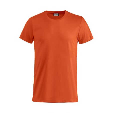 T-Shirt professionnel Clique 100% coton BASIC-T à col rond orange - vue devant