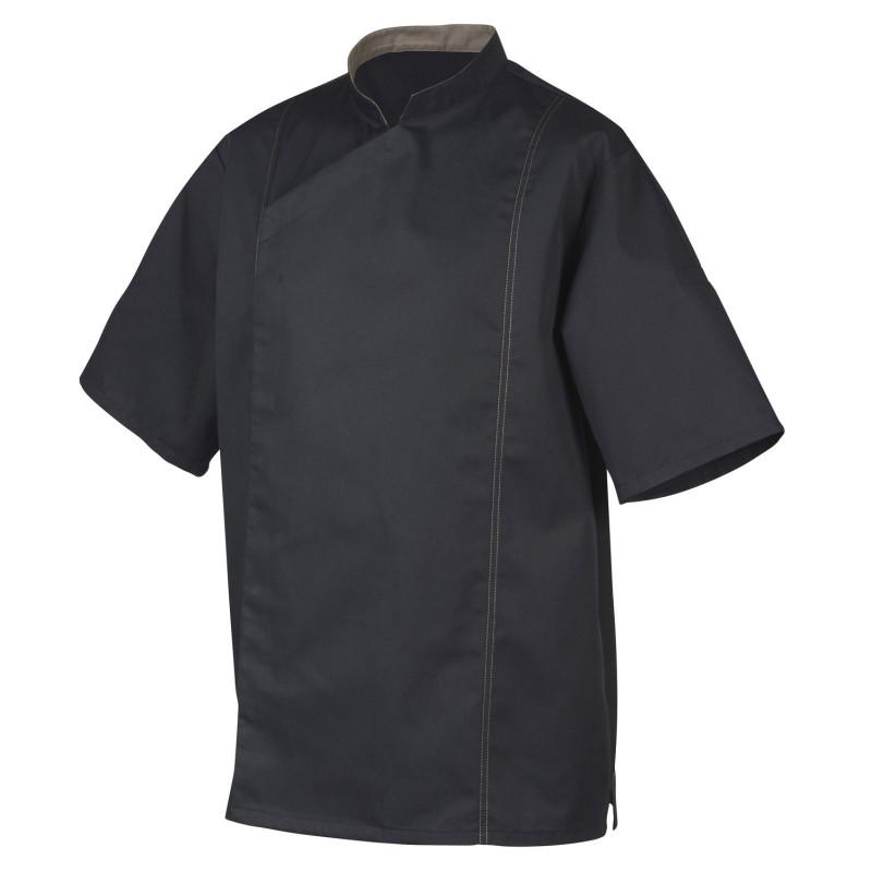 Veste de Cuisine mixte Robur Respirante en Coton Natura POWER+ Noir et Taupe