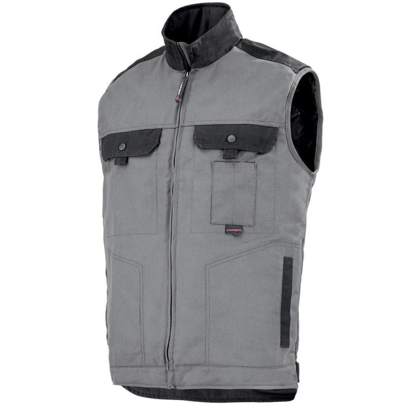 Bodywarmer de travail matelassé gris pour l'hiver Lafont collection Work Attitude HAMMER