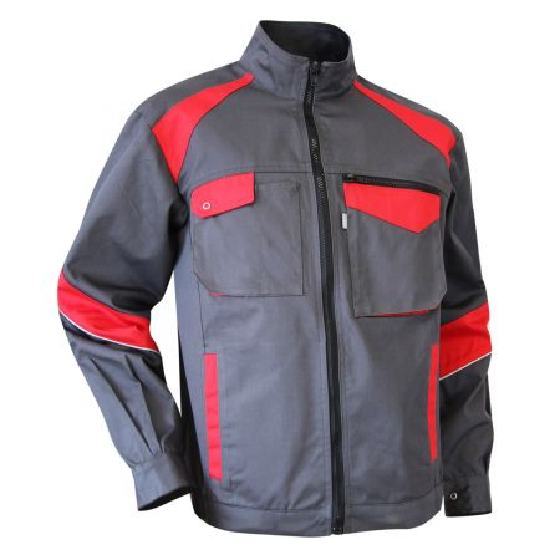 Blouson de travail Industrie bicolore LMA COLZA gris et rouge