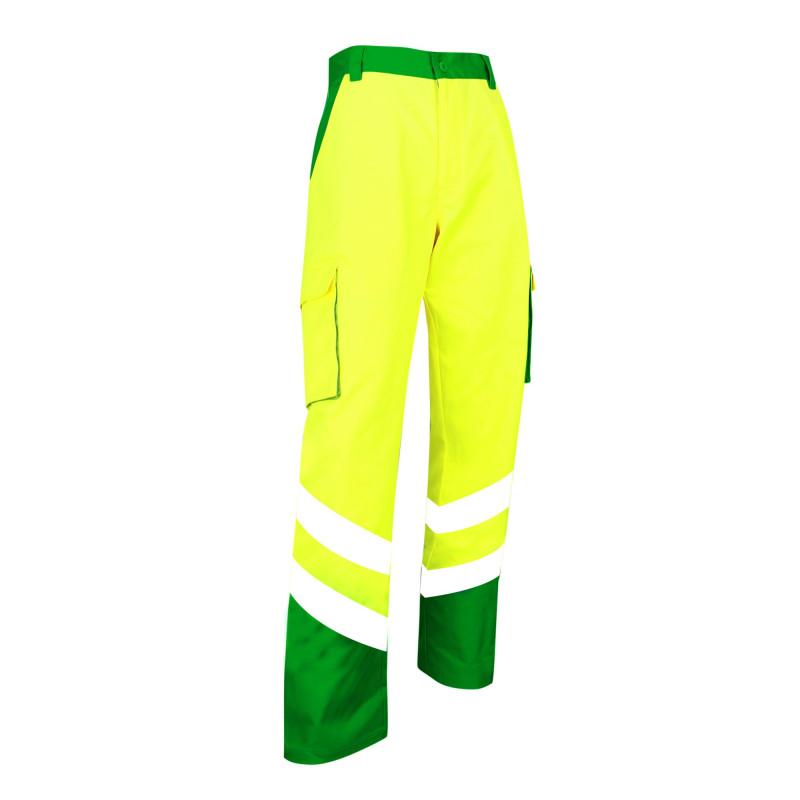 Pantalon HV pas cher LMA BALISE mixte bicolore jaune et vert