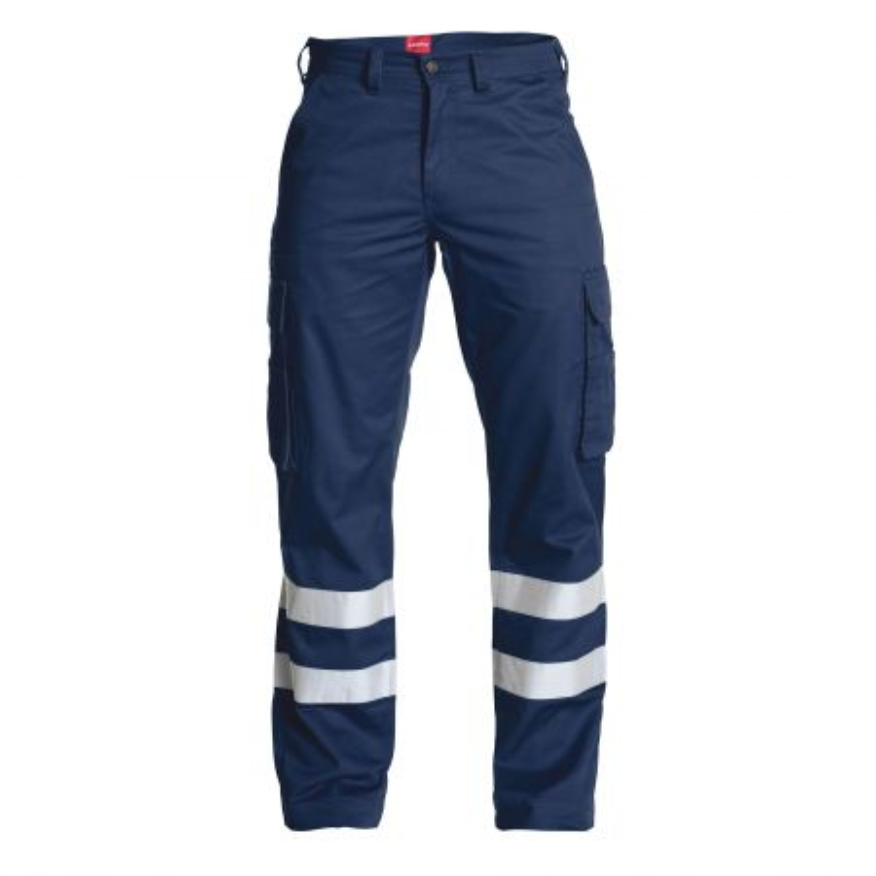 Pantalon de travail Engel STANDARD bleu marine avec bandes réfléchissantes