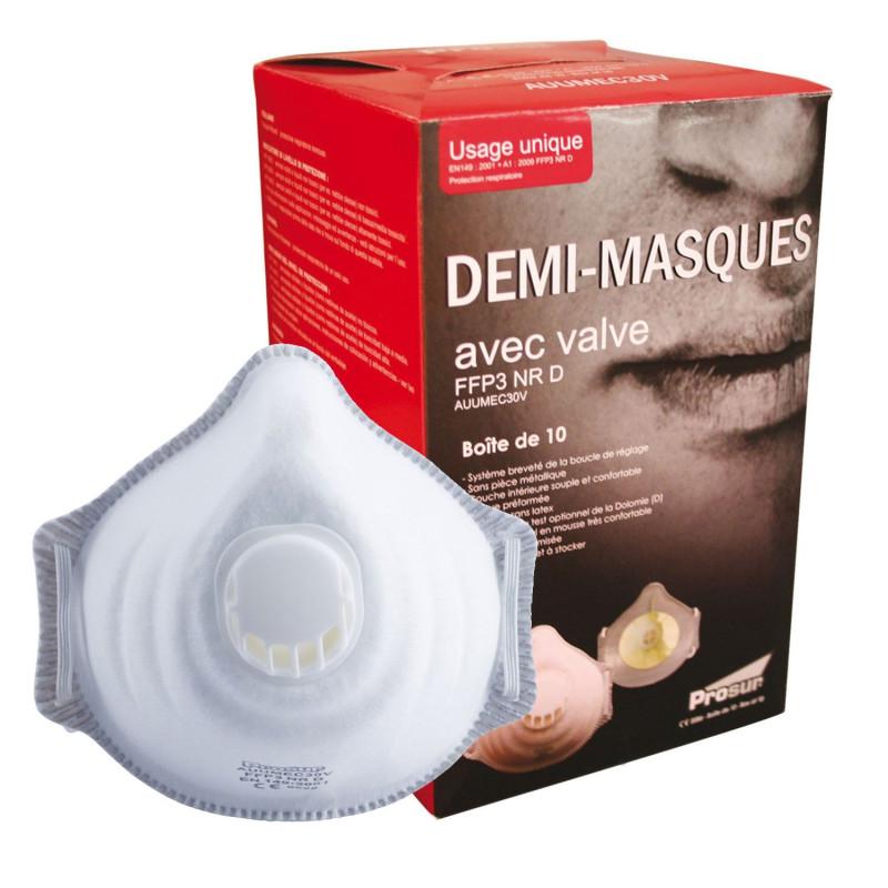 Masque à gaz professionnel FFP3 NR D SINGER avec valve