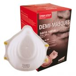 Demi-masque respiratoire professionnel jetable SINGER FFP1 NR D