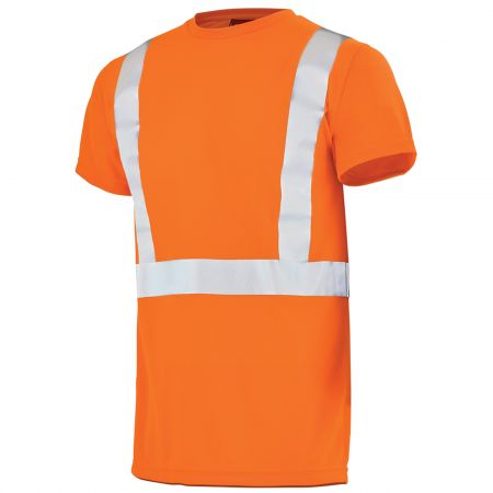 T Shirt Haute Visibilité orange fluo Lafont Work Vision 2 Light