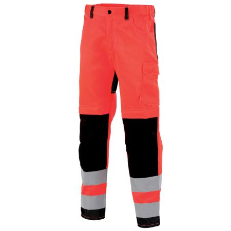 Pantalon homme haute visibilité sans métal Lafont STAR collection FLASH rouge hivi noir