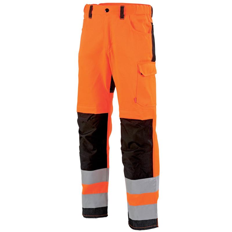 Pantalon de signalisation haute visibilité homme Lafont STAR collection FLASH orange hivi et noir