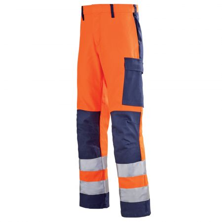 Pantalon haute visibilité multirisques Lafont sans métal MARS collection Protect HIVI orange hivi bleu marine