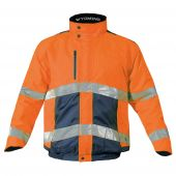 Blouson de signalisation orange fluo T2S WYOMING | Blouson haute visibilité imperméable et chaud